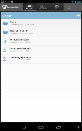 McAfee Personal Locker screenshot 11