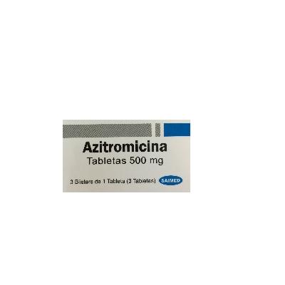 Azitromicina Saimed 500 mg x 3 Tabletas