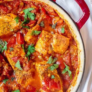 Mediterranean Fish Fillet Recipe, Shakshuka Style.