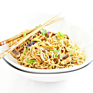 Vegetable Noodle Bowl with Mushrooms