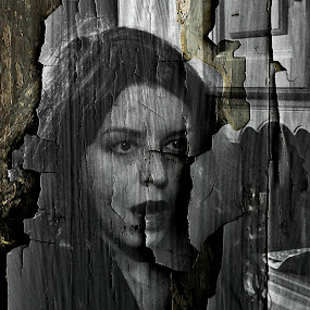shadows (portrait) by Dalibor Davidovic - Digital Art People ( black and white, digital art, portrait )