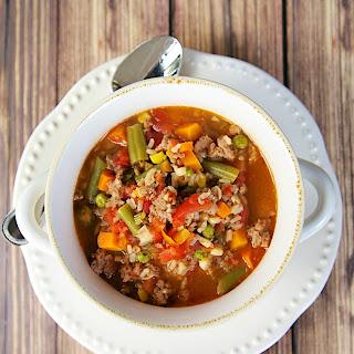 Turkey Vegetable Soup.