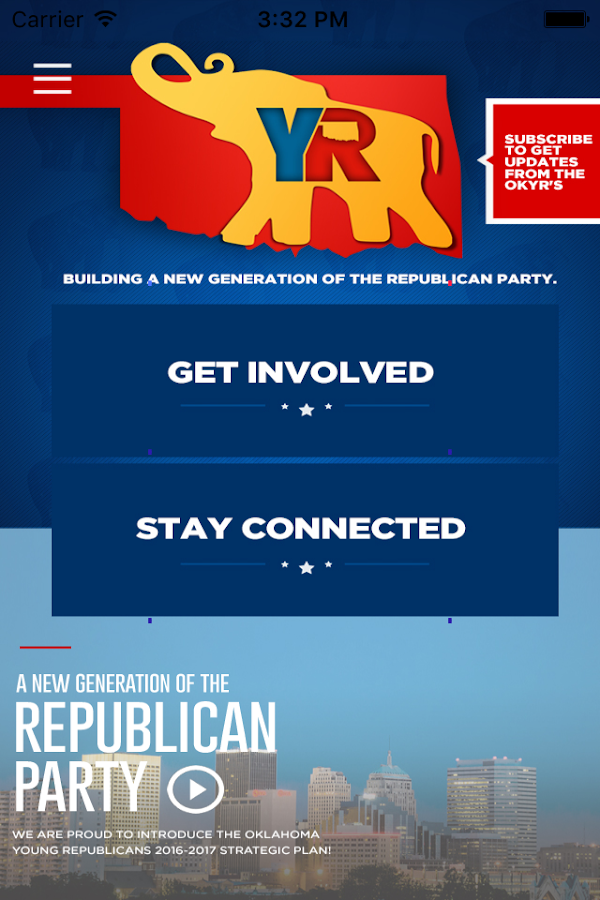 Oklahoma Young Republicans- screenshot