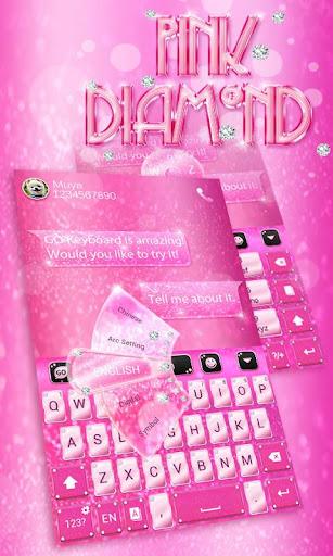 Pink Diamond GO Keyboard Theme