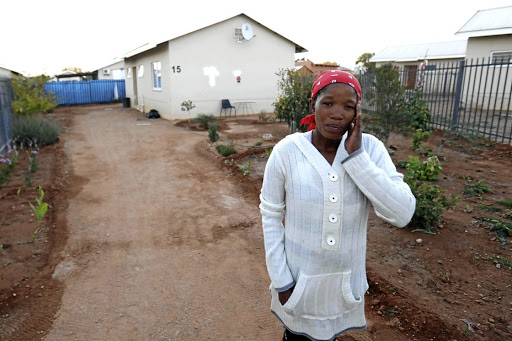 Sophia Meyer outside the home she shared with her husband Walter in Upington.