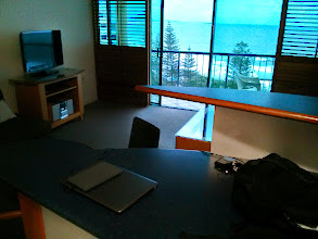 Photo: Desk with a Beach View