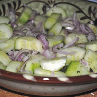 Simply Fresh Cucumber Salad With Shallot and Tarragon
