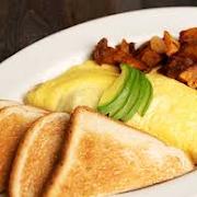 Avocado, Mushroom & Swiss Omelette Plate