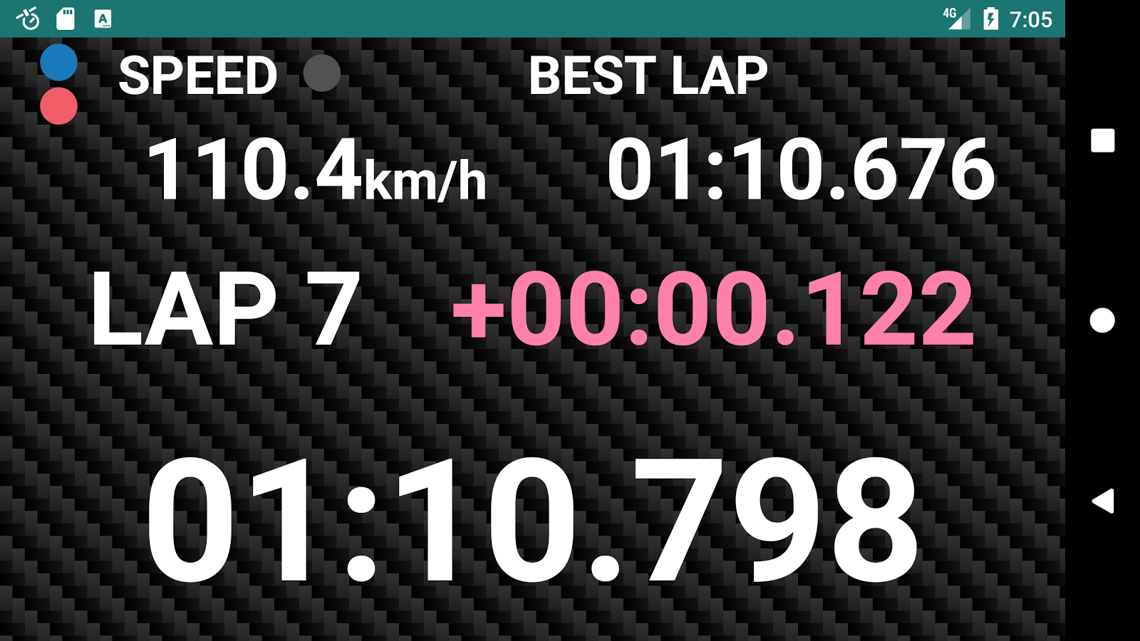 GPS Laps- screenshot