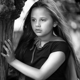 Kaylee in B and W by Sylvester Fourroux - Black & White Portraits & People