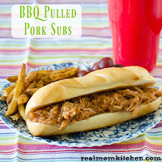 BBQ Pulled Pork Subs.