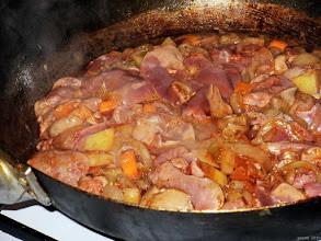 Photo: Kurza wątróbka z cebulą, marchewką i ziemniakami (31)