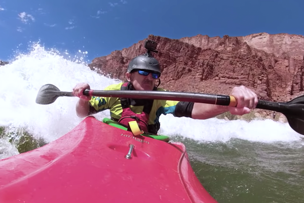 Kayaking with Street View
