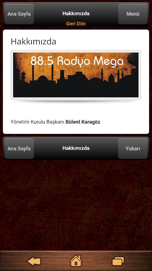 Akmega Radyo- screenshot