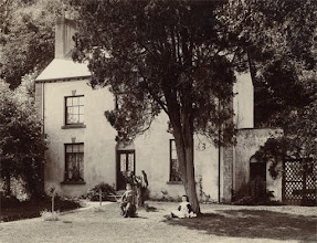 Photo: Kensington Cottage, near Usk, Wales probably around c. 1900. Photographer: H. Dunning, Usk. Scanned with permission from an old print owned by the Wallace family. Copyright of scan: A. R. Wallace Memorial Fund & G. W. Beccaloni.