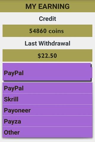 android Real Money Earning Screenshot 1