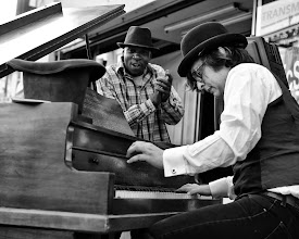Photo: The John Brothers Piano Company as seen on Mid-Market at the SF Arts Commission Arts in Storefronts launch