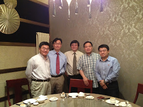Photo: with Dr. Wei Sun's colleagues at Beijing