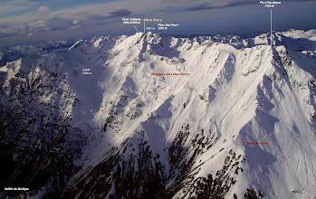 Photo: Ouest du massif du pic du Midi de Bigorre.