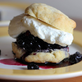 Blueberry Shortcake with Rose Whipped Cream