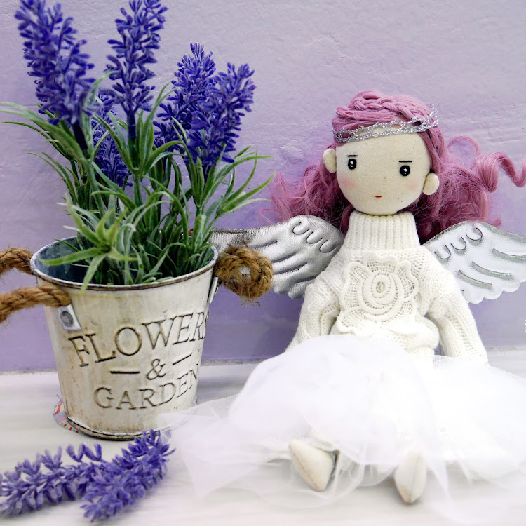 Handmade Doll- Lavender aka Angel Girl