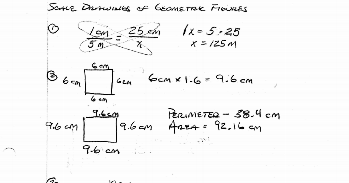 Scale Drawings of Geometric Figures Independent Practice – Scale Drawing Worksheet
