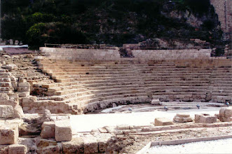 Photo: Malaga had a nicely restored Roman ampitheatre that was used for local theatre performances.