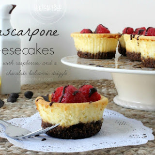 Gluten-Free Mini Mascarpone Cheesecakes