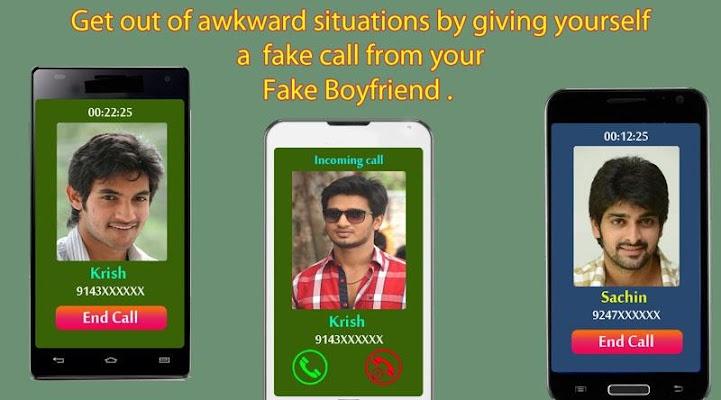 Fake Boyfriend Call - screenshot