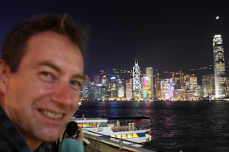 Photo: Day 195 -  Birthday Boy with View of HK Island