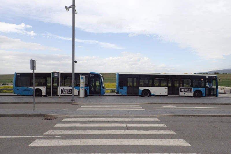Bus to Segovia Downtown from Train Station