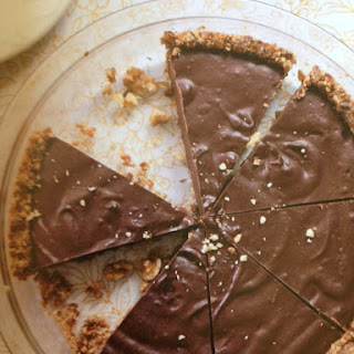 Chocolate Pie with Raw Graham Cracker Crust