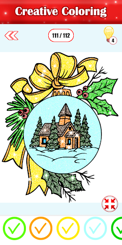 Indir Adult Christmas Glitter Color By Number Paint Book Apk Son