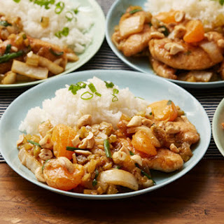 Cashew Chicken Stir-Fry with Tango Mandarins & Jasmine Rice.