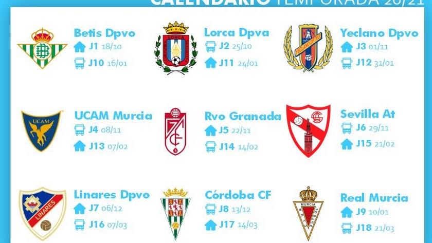 Los partidos para el CD El Ejido en su regreso a la Segunda B.