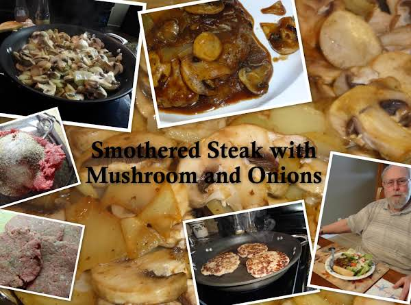 Smothered Steak With Mushrooms And Onions