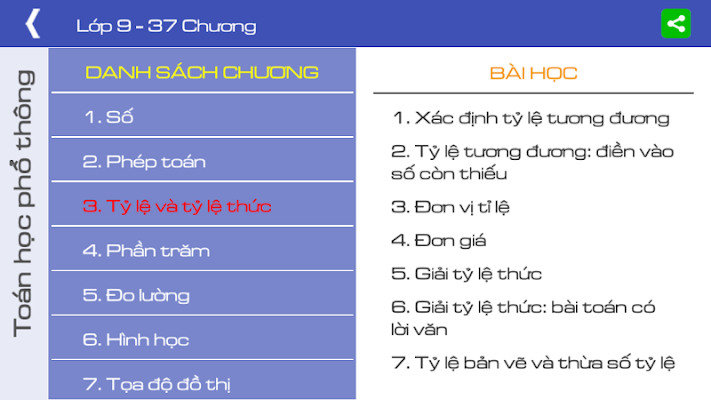 Toán lớp 9 (Toan lop 9) - screenshot