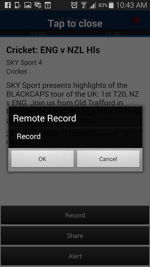 SKY TV NZ- screenshot