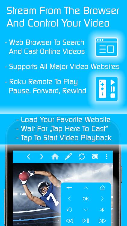 Video & TV Cast   Roku Remote & Movie Stream App – (Android
