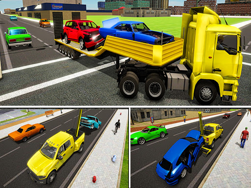 Crazy Tow truck 2020: 3D Euro Driving Simulator  screenshots 4