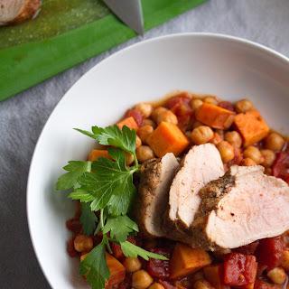 Roast Pork Tenderloin with Spicy Chickpea Stew.