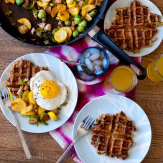 Leftover Stuffing Waffles and Turkey Vegetable Hash Recipe