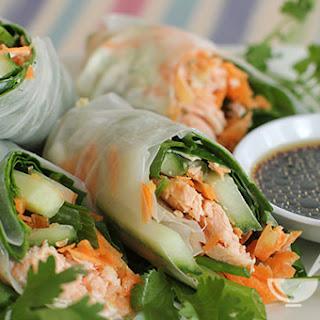 Description Vietnamese Asparagus and Salmon Spring Rolls