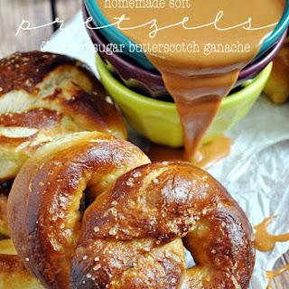 Soft Pretzels & Butterscotch Ganache