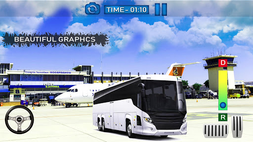 Bus Simulator Game 2019:Airport City Driving 3D  captures d'écran 2
