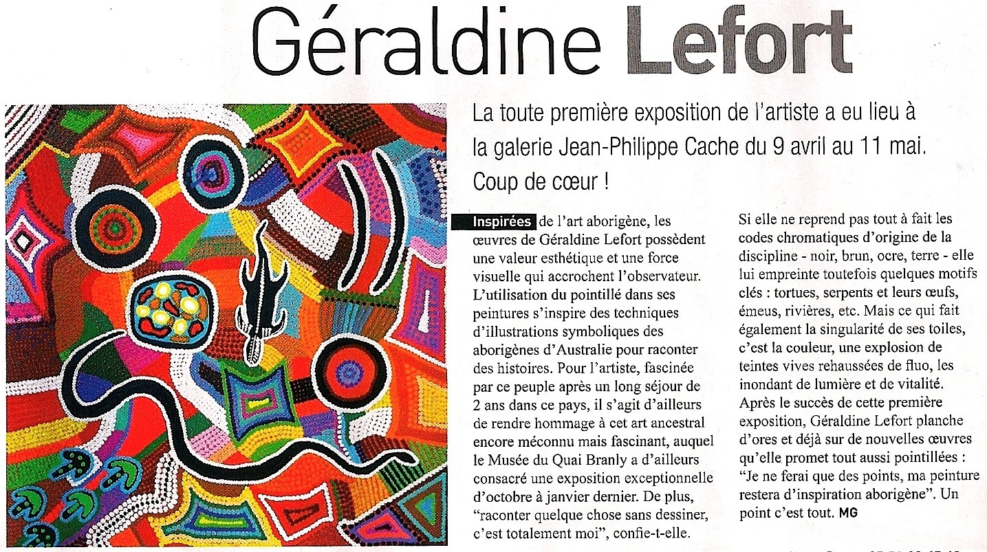 "Photo: ""Un point c'est tout!"" - Géraldine Lefort s'expose! http://artcliko.com/press http://artcliko.com/geraldinelefort"