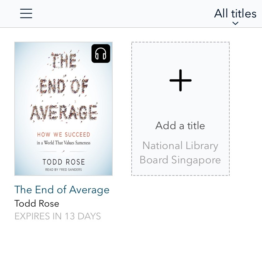 On my iPad: OverDrive app and audio book in my account.