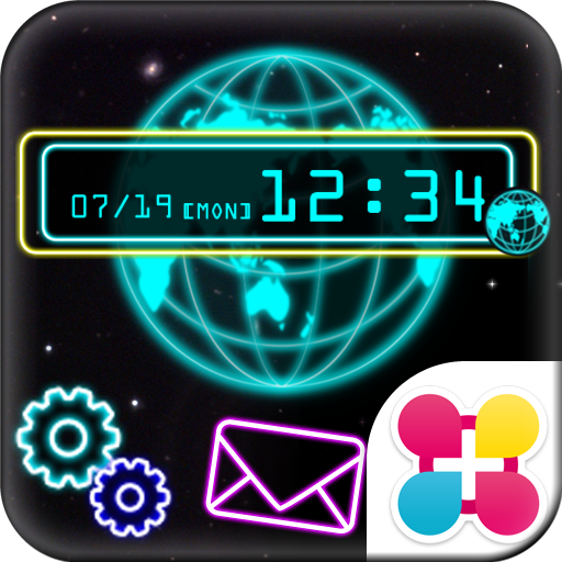 Neon Globe Wallpaper Theme Icon
