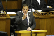 DA interim leader John Steenhuisen at the Sona debate on Tuesday, where he took shots at President Cyril Ramaphosa.