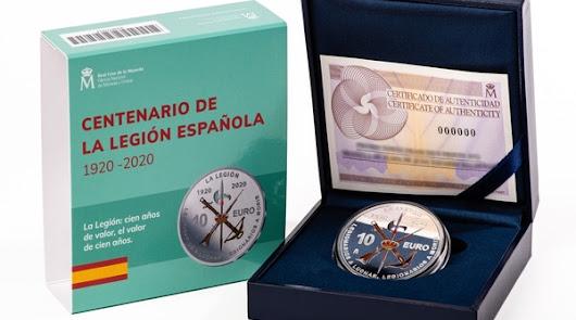 La moneda del Centenario de la Legión desborda previsiones y se agota en horas